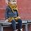 Thumbnail: Dresuri din lână moale și fină - bleumarin