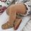 Thumbnail: Dresuri din bumbac călduros, croșetate lateral - crem (camel)
