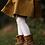 Thumbnail: Dresuri din bumbac călduros, croșetate lateral - alb