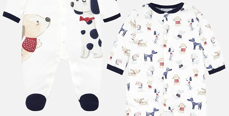 Set pijamale lungi animăluțe bebe