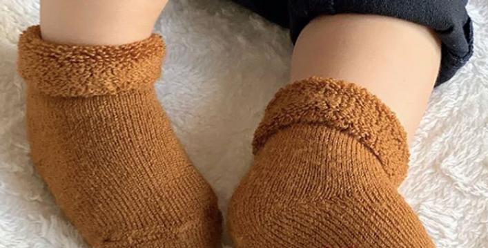 Șosete scurte lână pufoasă - în diverse nuanțe