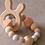 Thumbnail: Jucărie dentiție - rose - cu iepuraș