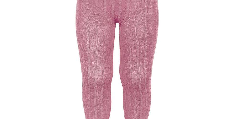 Dresuri din bumbac cu striații - roz blush