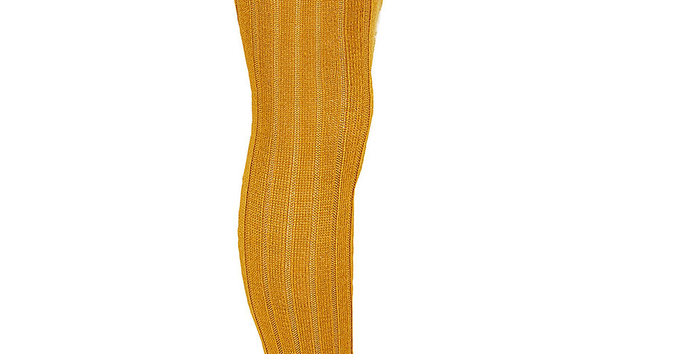 Dresuri cu striații din lână merino - curry