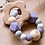 Thumbnail: Jucărie dentiție - mov - cu floare