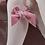 Thumbnail: Dresuri bumbac cu fundiță din catifea - roz dulce