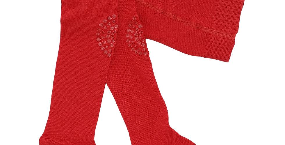 Ciorapi anti-alunecare din bumbac - roșu tango