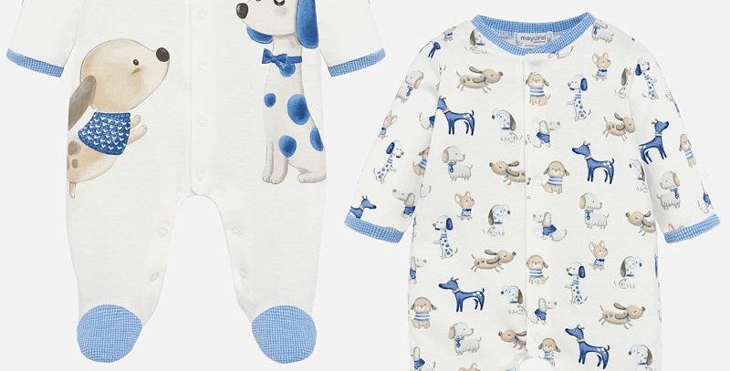 Set pijamale lungi animăluțe bubble