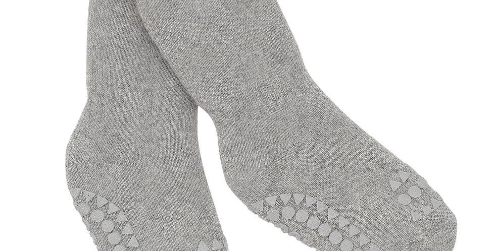 Șosete anti-alunecare din bumbac călduros - gri deschis