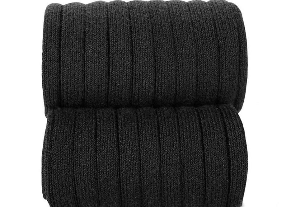 Dresuri din bumbac cu striații - negru