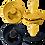 Thumbnail: Set suzete Bibs - mustard & dark denim