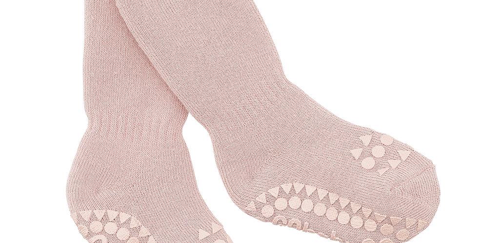 Șosete anti-alunecare din bumbac călduros - roz prăfuit