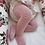 Thumbnail: Dresuri din bumbac călduros, croșetate lateral - roz dulce