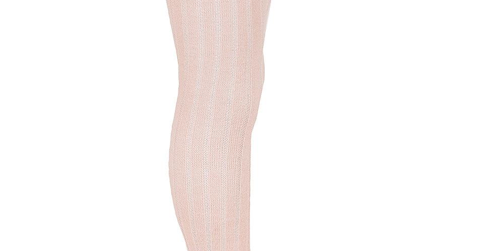 Dresuri cu striații din lână merino - roz pudrat