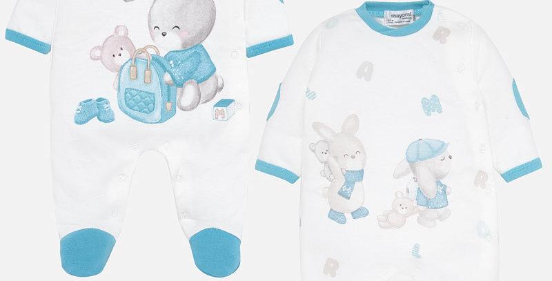 Set pijamale lungi iepuraș bebe