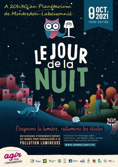 13 ème édition du Jour de la nuit le vendredi 8 Octobre à 20h30