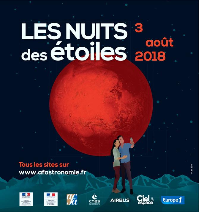 Nuit des étoiles  Vendredi 3  août 2018 21h à Planète Tarn
