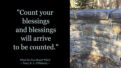 Tracy O'Flaherty - Meme - Count Blessings