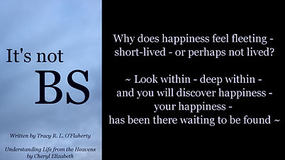 Tracy O'Flaherty - Meme - It's not BS - Happiness