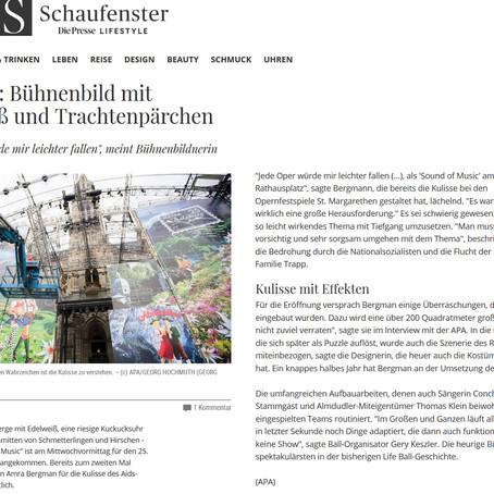 """DIE PRESSE - SCHAUFENSTER"" on AMRA BERGMAN´s visual Concept Art"