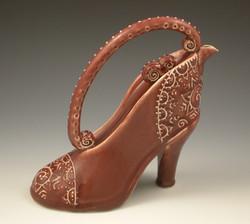 Ruby Shoe Teapot