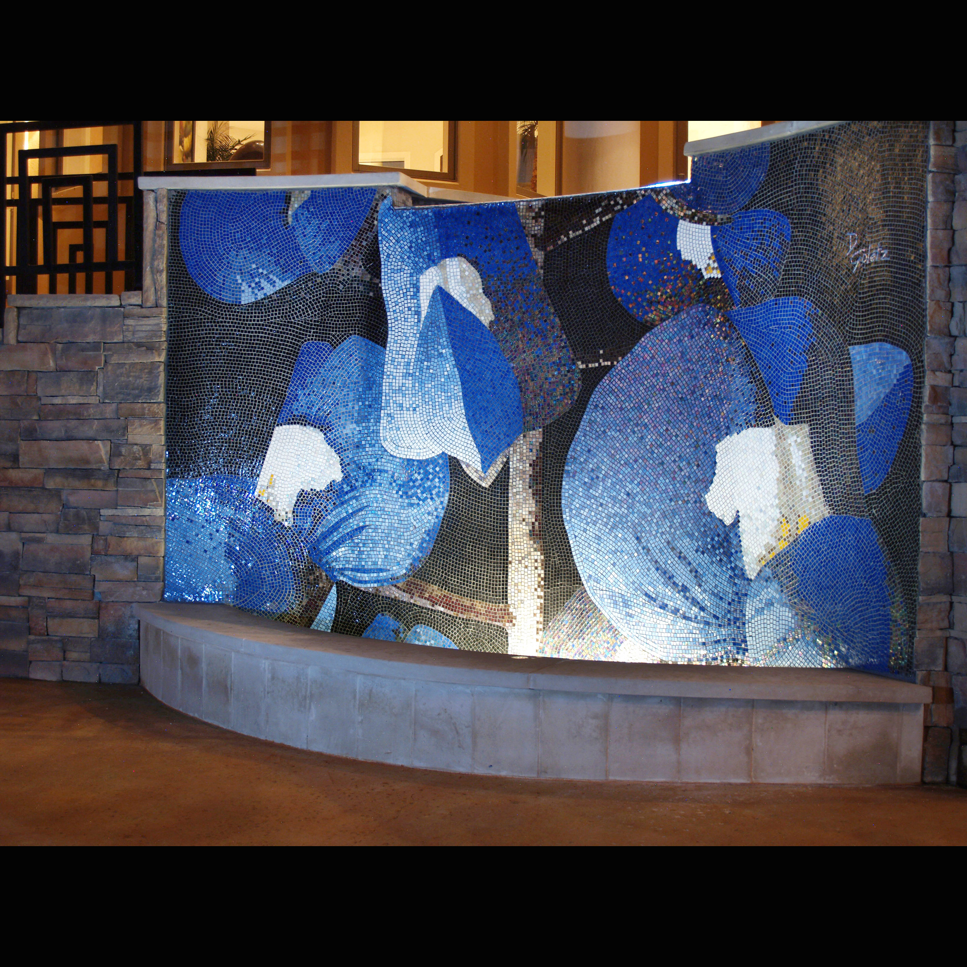 Texas Bluebonnet Fountain