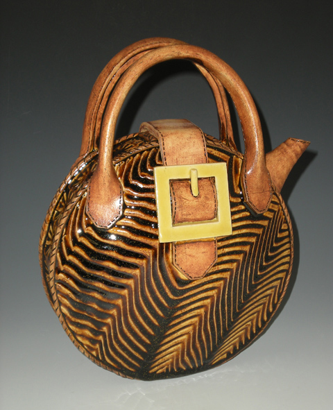 Yellow Buckle Purse Teapot