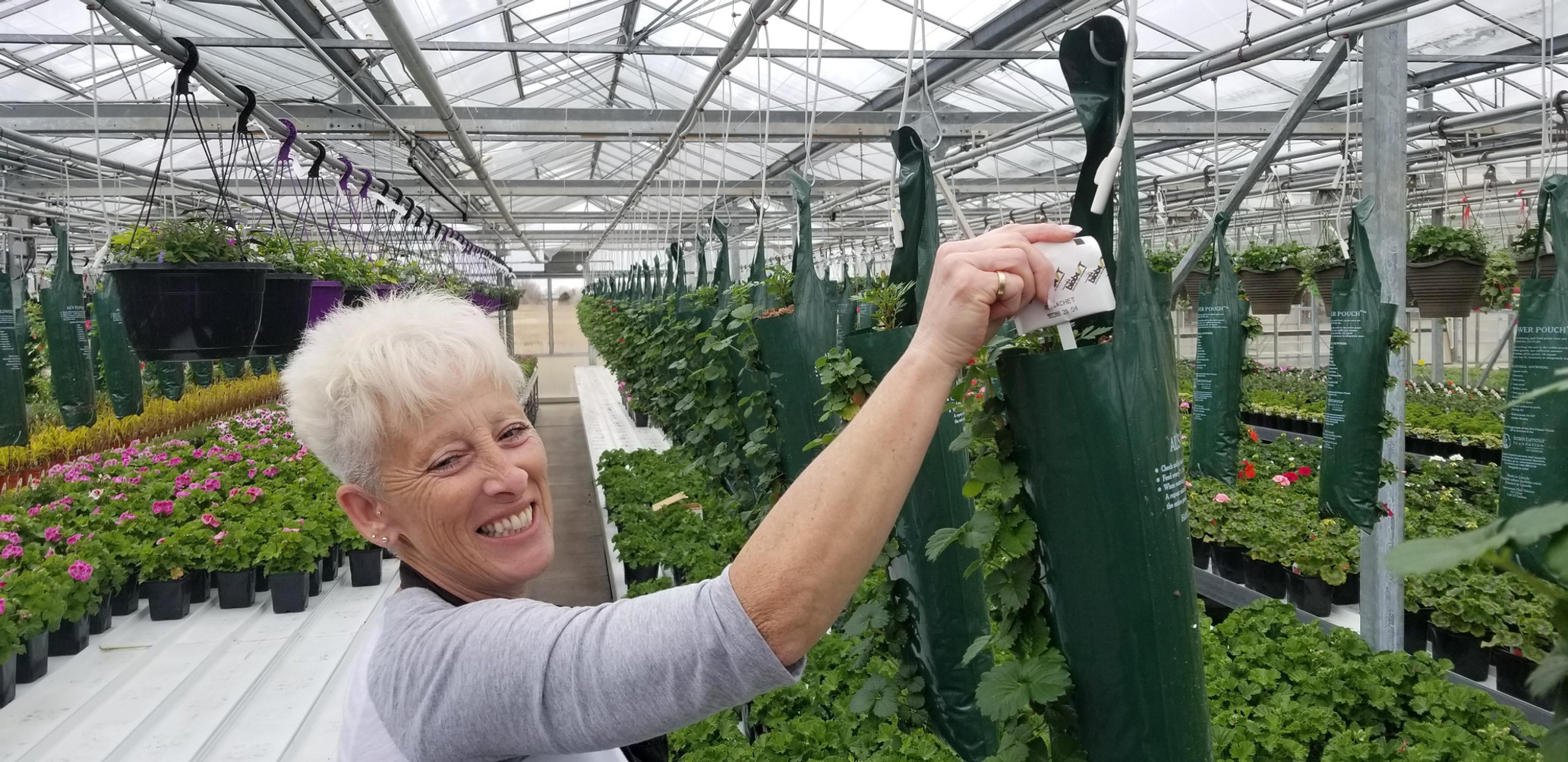 Strawberries make everyone smile @ Thiel's Greenhouses