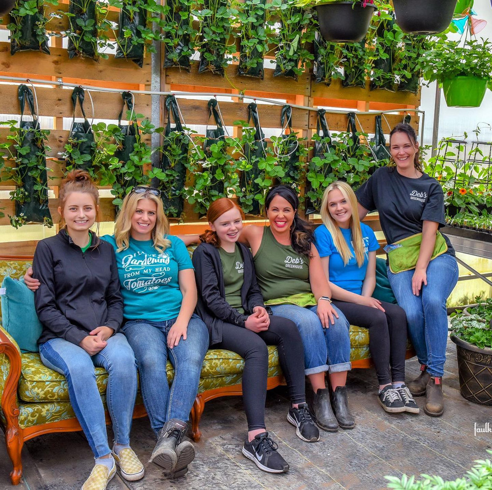 Strawberry wall selfie stop @ Deb's Greenhouse
