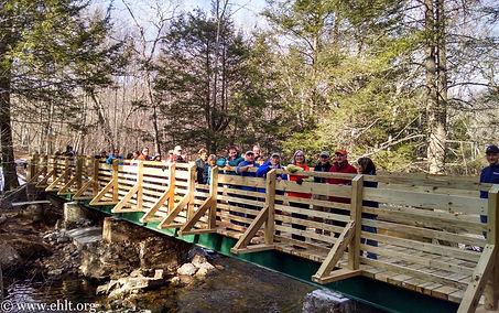 Eightmile River footbridge-hikers 1-31-1