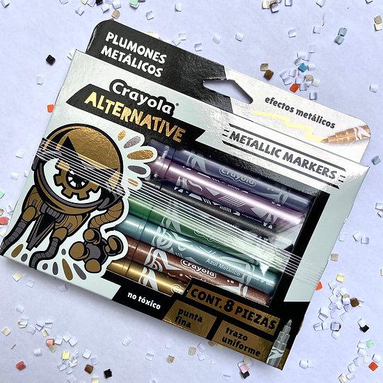 Crayola Alternative Marcadores Metálicos