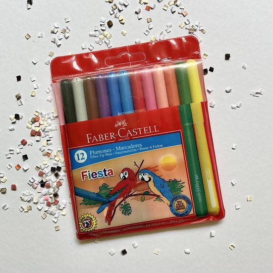 Faber Castell Marcadores Fiesta 12 pzas