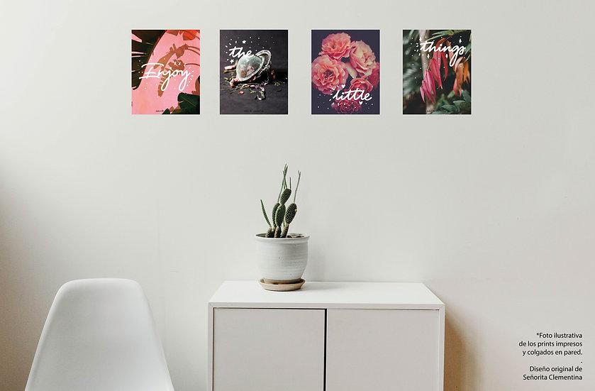 Prints Enjoy the little things (set de 4 archivos digitales)