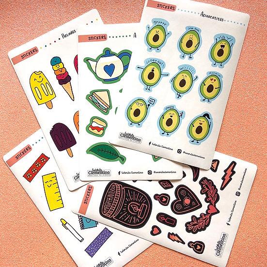 Paquete de stickers 5 pz