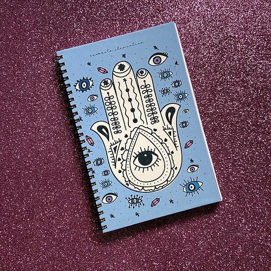 Bullet Journal Hamsa y Ojitos