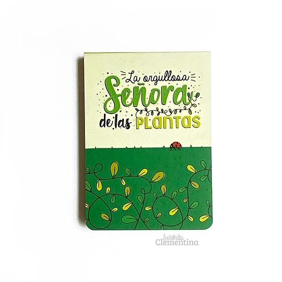 """Libreta Mini modelo """"Señora de las Plantas"""""""