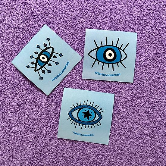 Set de 3 imanes Ojitos Azul