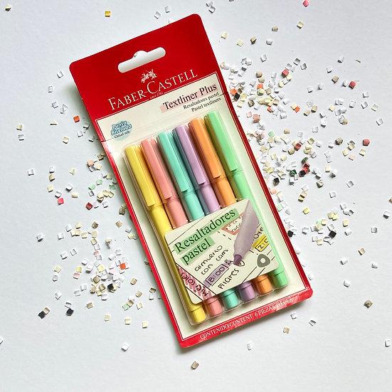 Faber Castell Texliner Plus Pastel 6 pzas.