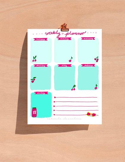 "Planner semanal ""Cerezas"""