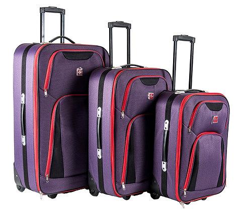 סט מזוודות 2 גלגלים טרבל בייסיק