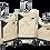 Thumbnail: סט מזוודות שלזינגר בצבע שמנת