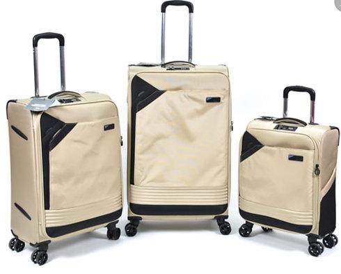 סט מזוודות שלזינגר בצבע שמנת