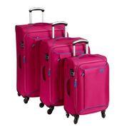 סט מזוודות שלזינגר ורודות pink luggage set