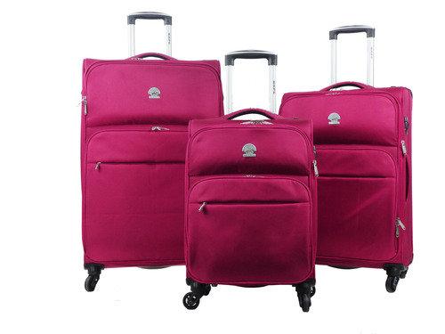 סט מזוודות ורודות 4 גלגלים