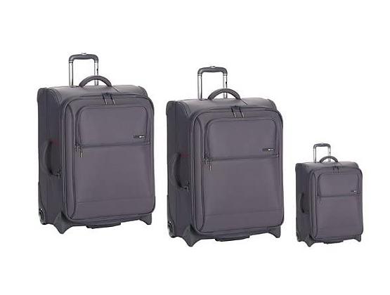 סט מזוודות 2 גלגלים דלסי בצבע אפור