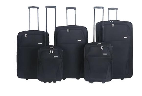 סט  רילוקיישן מזוודות 5 יחידות 32-28-24-21-20 בצבע שחור