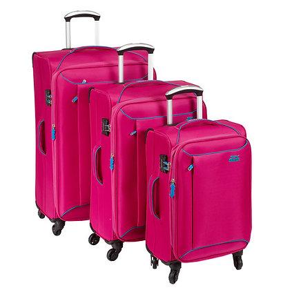 סט מזוודות בד  3 יחידות שלזינגר מנצ׳סטר ורוד מגניב במיוחד