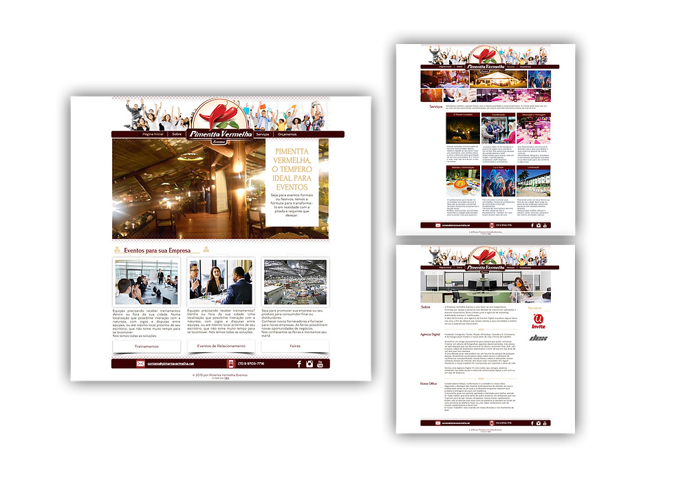Site Logomarca Pimenta Vermelha Portifólio