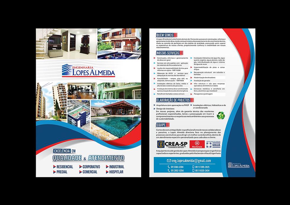 Flyer Planificado Lopes Almeida Portifólio