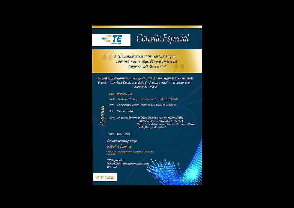 Convite Digital Inalguração TE Connectivity